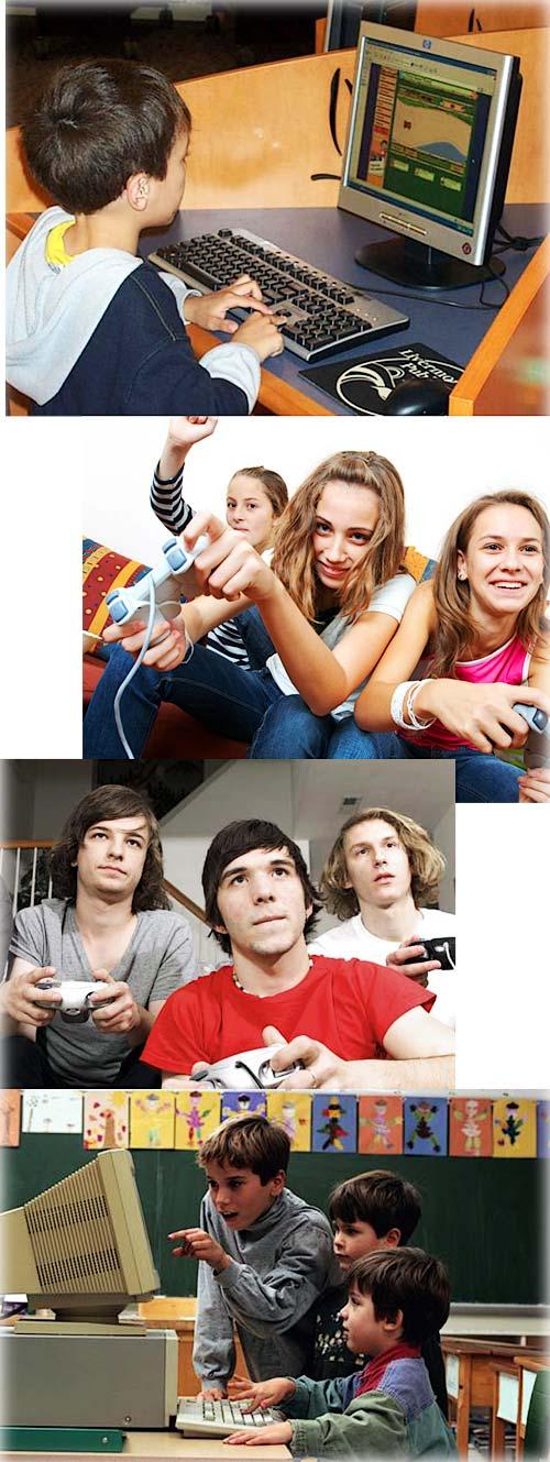 Современные дети играют в компьютеры, приставки и тому подобное.